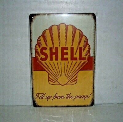 SMS1 SHELL Metal Sign New 30 cm H X 20 cm W