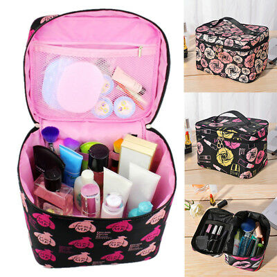 Women Cosmetic Make Up Travel Toiletry Bag Pouch Organizer Handbag Storage Case