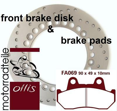 EBC stainless front brake rotor + sinter brake pads - Honda XL 600 RM/LM - PD04