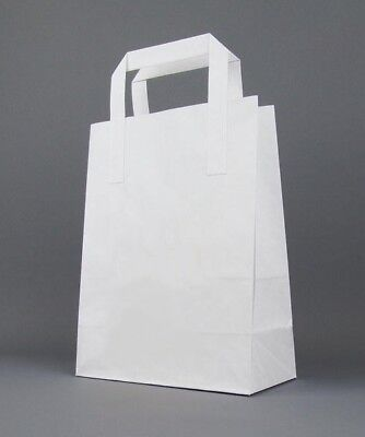 All Size & Color SOS Kraft Paper Carrier Bags - Flat Handles - For Gift & Party
