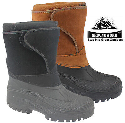 Ladies Groundwork  Snow Thinsulated Boots Mucker Wellingtons Ski Womens Shoes