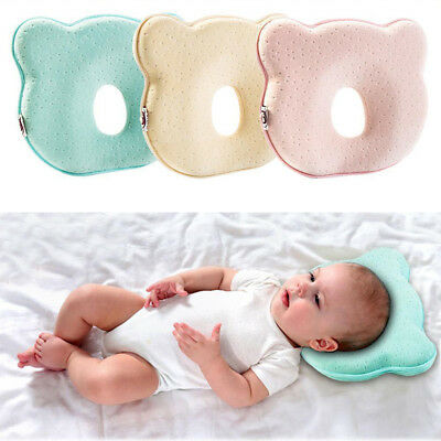 Baby Cot Pillow Preventing Flat Head Memory Foam Safe Pillow for Newborn Infant