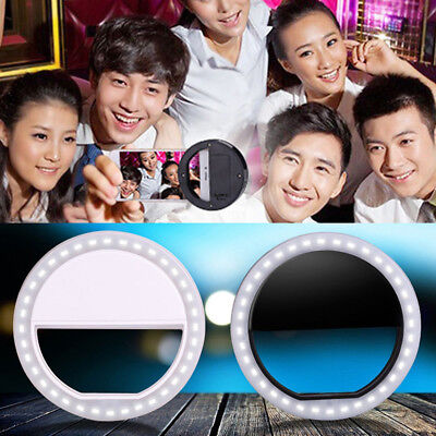 3W Selfie Led Light Ring Flash Fill Clip Camera For Android Phone Tablet Bling