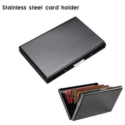 Stainless Steel RFID Blocking Wallet Slim Secure Contactless for 6 Credit Cards