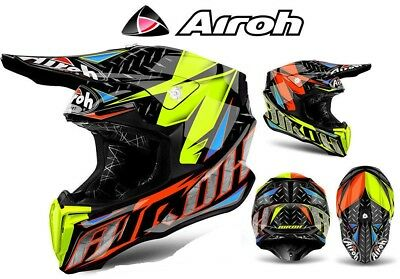 Casque Cross Airoh Twist Iron Orange Eur 18068 Picclick Fr