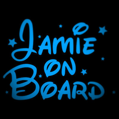 Personalised Name On Board Sticker Kids Boy/girl Car Safety Vinyl Decal Sticker