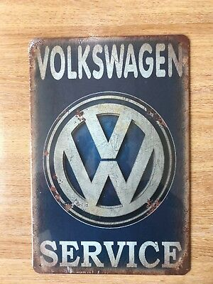 Vintage Retro Style Metal Tin Sign Poster Vw Service Garage Cave Wall Home