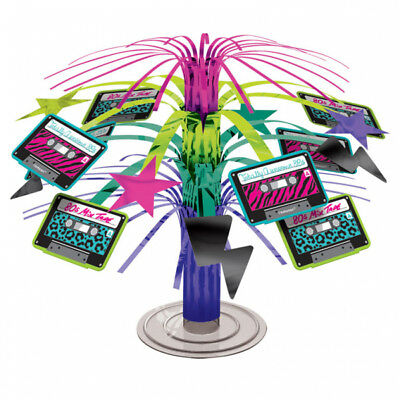 Totally 80's Mini Cascade Table Centerpiece - 1980's Party Table Decorations