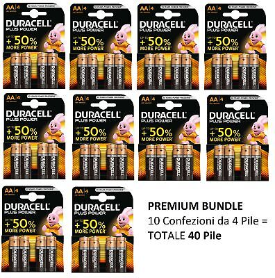 Batterie Pile Alcaline Aa Stilo Duracell Plus Power Duralock 1,5 Vt Lr6 Mn 1500