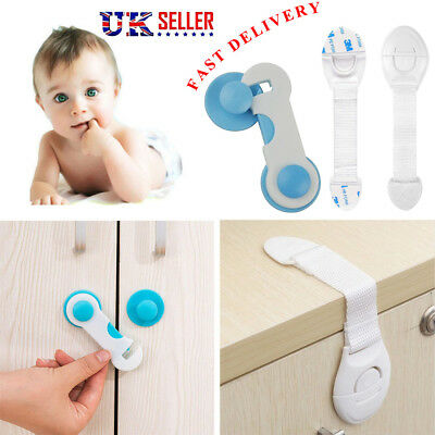 10X Baby Kids Child Cupboard Cabinet Safety Locks Pets Proofing Drawer Fridge UK