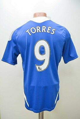 Chelsea 2011/2012 # 9 Torres Home  Football Shirt Jersey Adidas Size S Adult