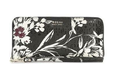 PORTAFOGLIO DONNA Guess tamra slg large zip around bla/floral SWSF7110460BKF