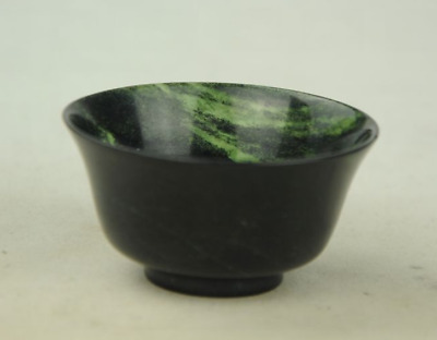 China Natural Exquisite Hand-carved Chinese Hetian Jade - Jade bowl