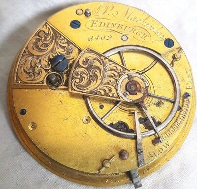 EDINBURGH Fusee movement. Repair. *DIAMOND ENDSTONE*