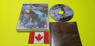 """Uncharted 2: Among Thieves (Sony PlayStation 3, 2009) """"CIB"""" PS3"""