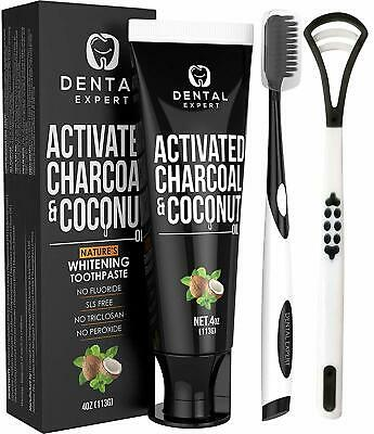 Dental Expert Activated Charcoal & Coconut Oil Teeth Whitening Toothpaste - 4 oz