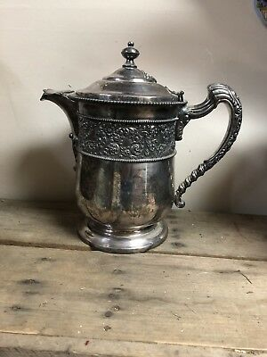 Antique Victorian Rogers Smith & Co. Water Lemonade Pitcher