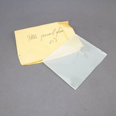 = Antique Large Format Camera Plate Ground Glass 5x7