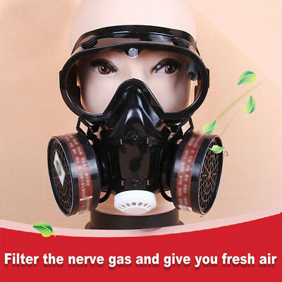 Full Mask Face Dust Proof Respirator Chemical Smoke Protection Filter Air Fed