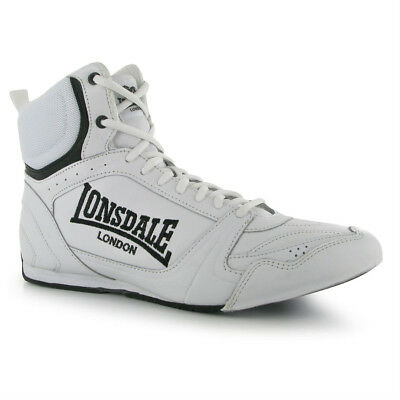 Lonsdale Bout Leather Boxing Boots - White
