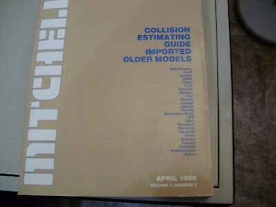 1986 Mitchell Imported Collision Estimating Guide. covers 1964 to 79 (see pic #2