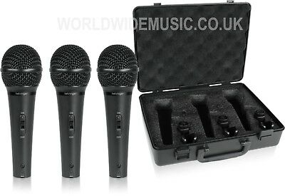 Behringer XM1800S Pack of 3 Dynamic Cardioid Microphones in ABS padded Case