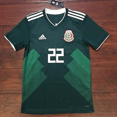 2018 Mexico Home Jersey  22 Hirving Lozano Small S S Adidas World Cup Soccer 2c18272e7