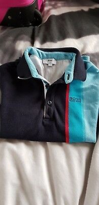 boys hugo boss slim fit polo long sleeve size 6