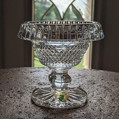 Waterford Crystal Rolled TURNOVER Bowl Mini Footed is Mint Ireland Made