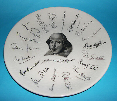 Holkham Pottery - Shakespeare Exhibition Plate 1564-1964 With Famous Signatures.