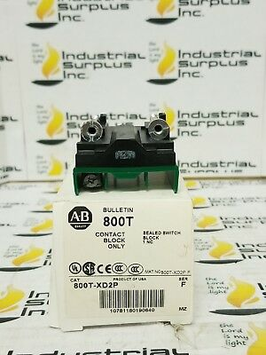 Allen Bradley 800T-XD2P Contact Block Sealed Switch Ser F *FREE SHIPPING*