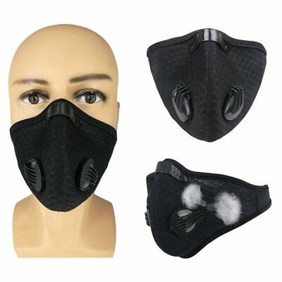 Cycling Honeycomb Mesh Cloth Breathable Anti Dust Haze Half Face Mask Black
