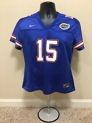 8de687863 Youth Girls 12-14 Nike Team Florida Gators  15 Tim Tebow Football Jersey  Blue