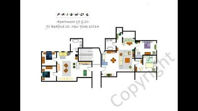 @@ Friends TV Show @@ Floorplans @@ Prints: Your Favourite Show on your Wall.
