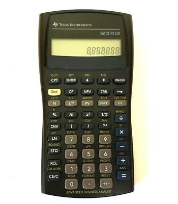 Texas Instruments BA II Plus Financial Calculator - Tested Working No Cover