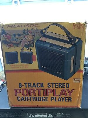 Vintage Realistic PORTiPLAY Portable 8 Track Cartridge Player 14-904A
