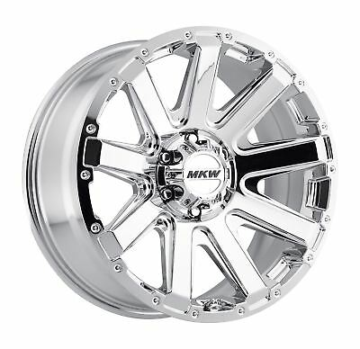 18x9 Chrome Mkw Offroad M89 Wheels 6x135 10 Lifted Ford F 150