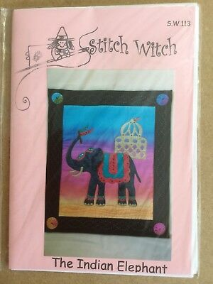 bfa6c56a0 QUILTING PATTERN STITCH Witch Indian Elephant 113 - £5.00