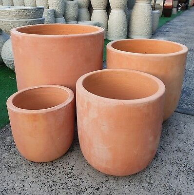 Outdoor Garden Patio Round Washed Terracotta Entrance Planter Pot Conti Drum