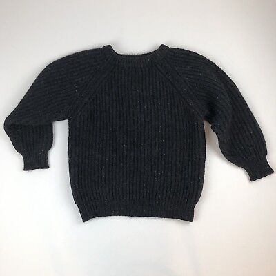 VTG Woodbound Eastern Mountain Sports Thick Flecked Gray 100% Wool Sweater Sz L