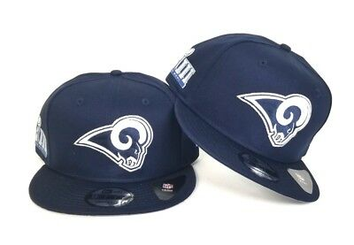 ab51d01d Los Angeles Rams Navy New Era Super Bowl LIII 53 Side Patch 9Fifty snapback  Hat