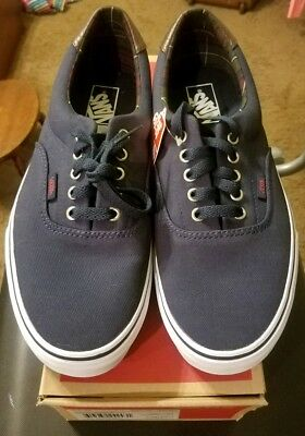 0bb6b11c4c VANS ERA 59 Plaid Dress Blue Mens Skate Shoes   authentic S77151.98 ...