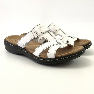 d45bc0eacde CLARKS WOMENS LEISA Bora Leather Sandals Size US 10M Brown 26069220 ...