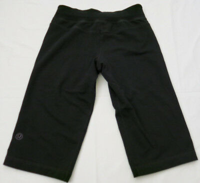 6aa225cae9d LULULEMON ATHLETICA Women s Black Thick Workout Wear Crop Capri Pants - Size  6