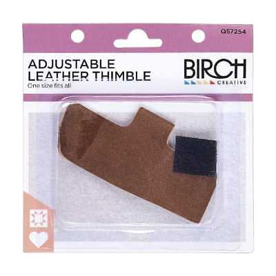 NEW Birch Adjustable Leather Thimble By Spotlight