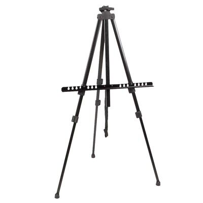 Artist Adjustable Folding Easel Iron Stand Tripod Display Exhibition + Carry Bag