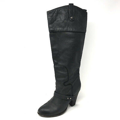 09b958aad5238 SAM EDELMAN SABLE Leather Cuff Over the Knee OTK Leather Boots size ...