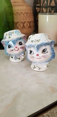 Lefton Miss Priss Salt And Pepper Set + bonus damaged one