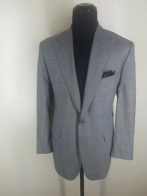 Alan Flusser Vintage USA  Bespoke 2 Btn Peaked Lapel Sport Coat  Fit 44-46 Long