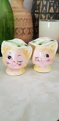 Lefton Winking Kitty Salt And Pepper Shakers